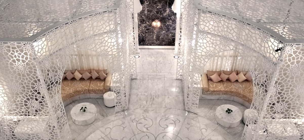 View of The Royal Mansour spa, luxury destination Marrakech, Morocco, Africa