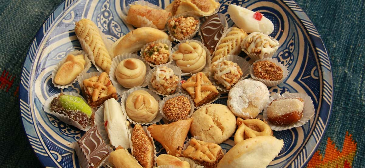 View of African sweets, luxury family vacation, Morocco, Africa