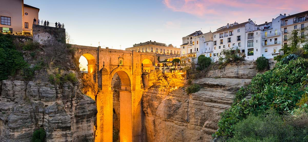 Ronda Spain at the Puente Nuevo Bridge over the Tajo Gorge