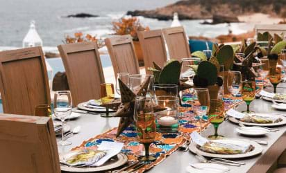 Group Dining at Luxury Mexico Resort Incentive Trip, Corporate Meetings & Incentives