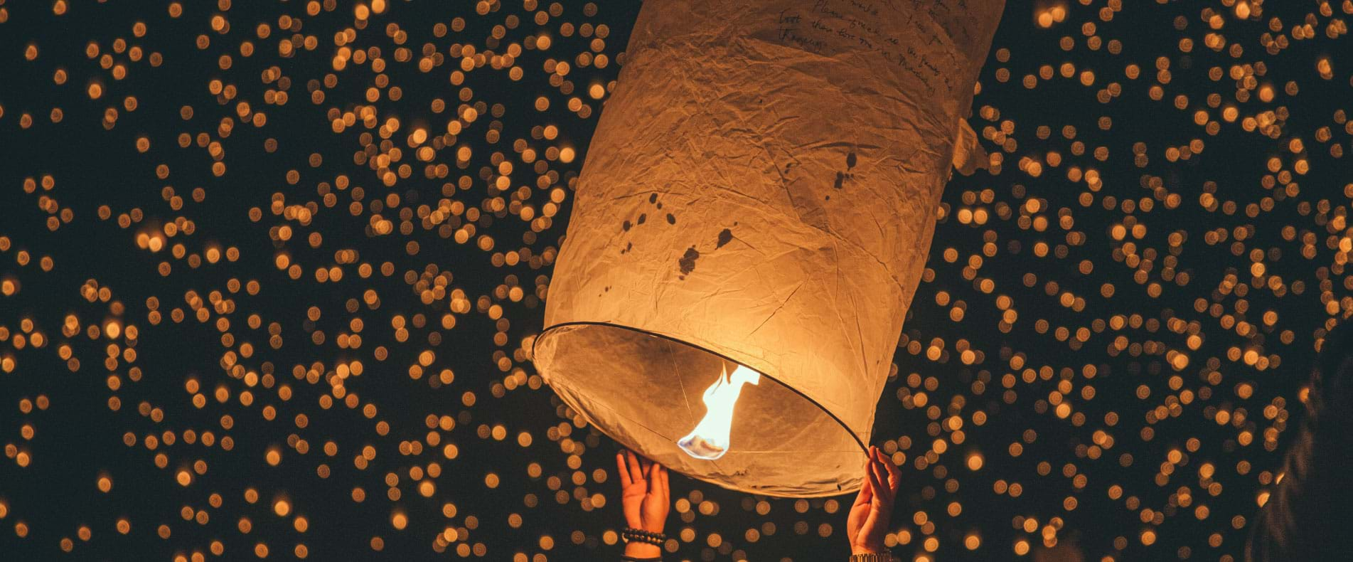 Paper lanterns in Chiang Mai, Thailand